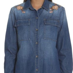 "✅ Driftwood "" Penny"" shirt. Super soft denim."